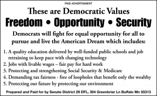 These are Democratic Values