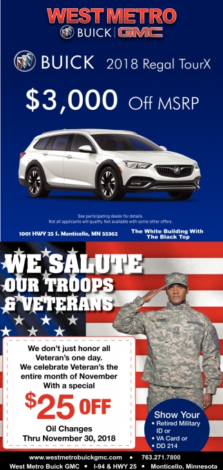 We Salute Our Troops & Veterans