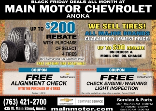 Black Friday Deals All Month at Main Motor Chevrolet