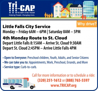 Call for more Information or to Schedule a Ride