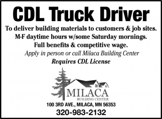 CDL Truck Driver