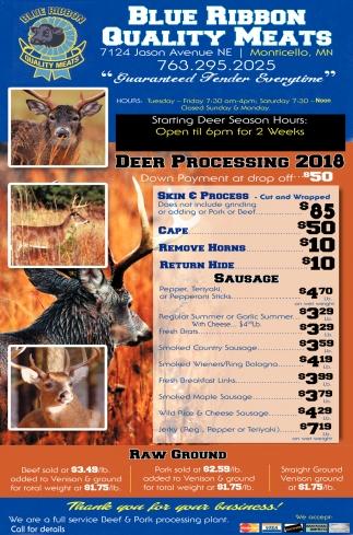 Deer Processing 2018
