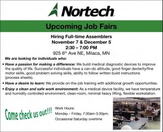 Upcoming Job Fair
