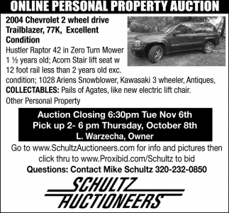 Online Personal Property Auction