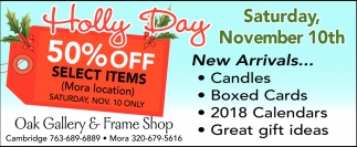 Holly Day 50% OFF Select Items