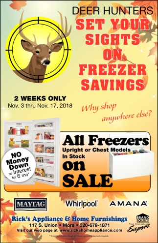 Deer Hunters Set Your Sights on Freezer Savings
