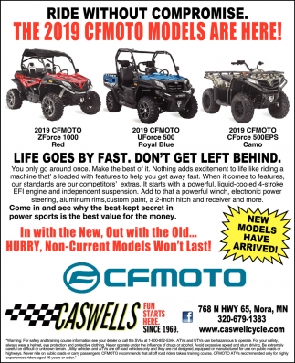 The 2019 CFMOTO Models are Here!