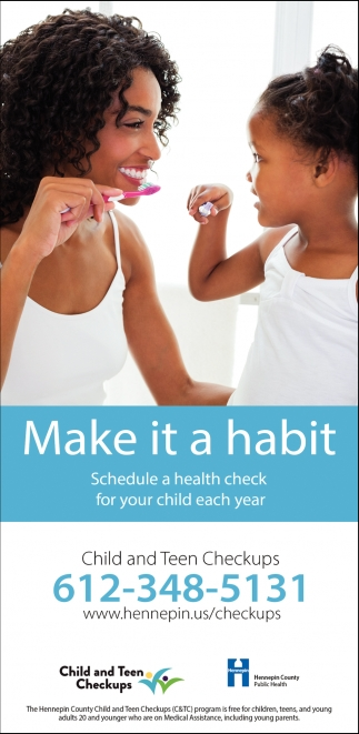 Schedule a Health Check for Your Child Each Year