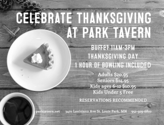 Celebrate Thanksgiving at Park Tavern
