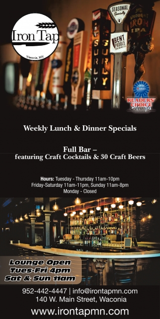 Weekly Lunch & Dinner Specials