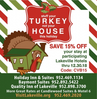 Stuff Your Turkey not Your House this Holiday