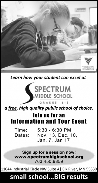 Join us for an Information and Tour Event