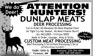 Attention Hunters!