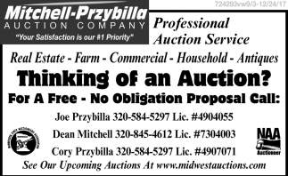 Thinking of an Auction?
