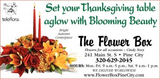 Set Your Thanksgiving Table Aglow with Blooming Beauty