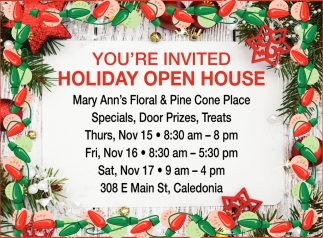 You're Invited Holiday Open House