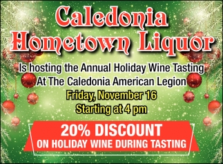Annual Holiday Wine Tasting