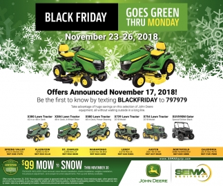 Black Friday Goes Green thru Monday