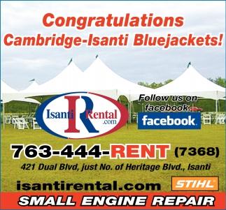 Congratulations Cambridge-Isanti Bluejackets!