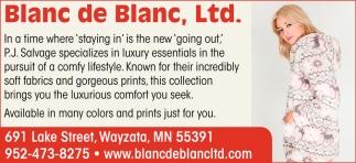 Blanc de Blanc, Ltd