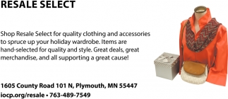 Shop Resale Select for Quality Clothing and Accessories