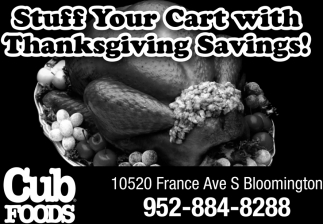 Stuff Your Cart with Thanksgiving Savings!