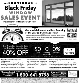 The Countdown to Black Friday Window Sales Event