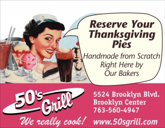 Reserve Your Thanksgiving Pies