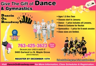 Give the Gift of Dance & Gymnastics