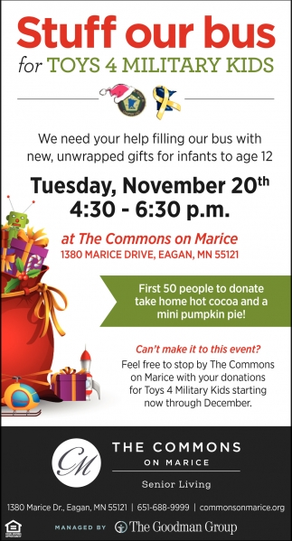 Stuff Our Bus for Toys 4 Military Kids