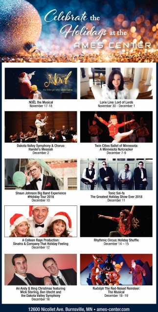 Celebrate the Holidays at the Ames Center