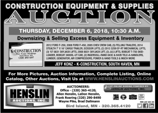Construction Equipment & Supplies Auction