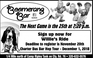 Sign up Now for Willie's Ride