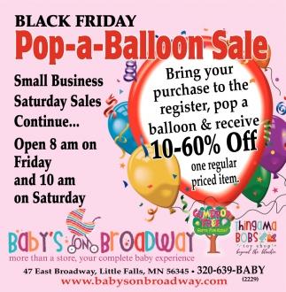 Black Friday Pop-a-Balloon Sale