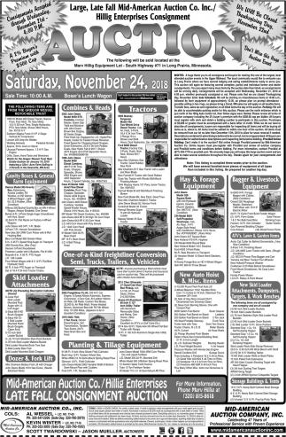 Hillig Enterprises Consignment Auction