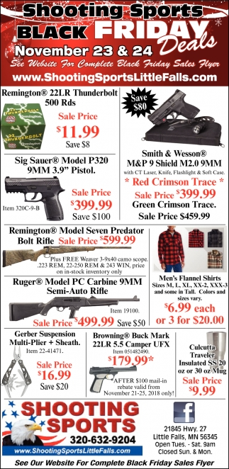 Shooting Sports Black Friday Deals