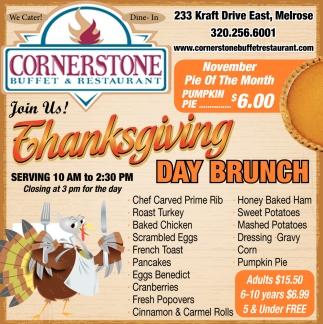 Thanksgiving Day Brunch