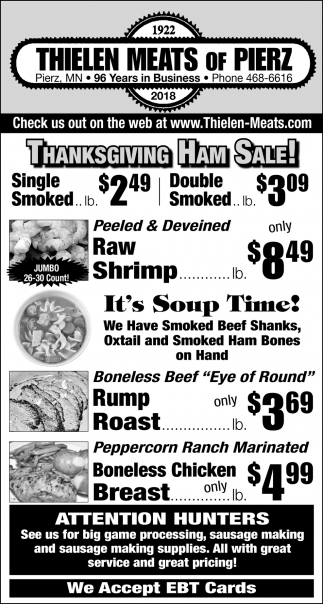 Thanksgiving Ham Sale!