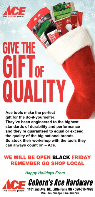 Give the Gift of Quality