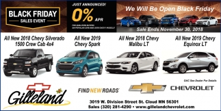 Black Friday Sales Event Gilleland Chevrolet St Cloud Mn