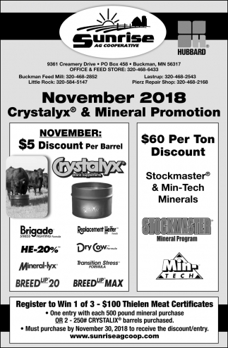 Crystalyx & Mineral Promotion