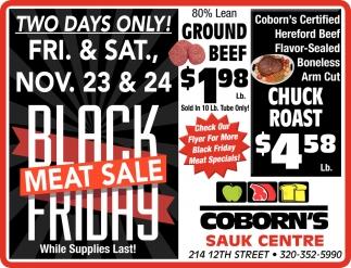 Black Friday Meat Sale