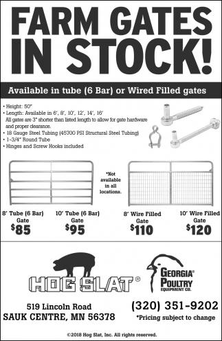 Farm Gates in Stock!, Hog Slat, Sauk Centre, MN