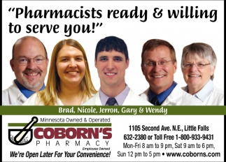 Pharmacists Ready & Willing to Serve You!