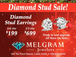 Diamond Stud Sale!