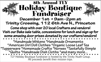 8th Annual TLY Holiday Boutique Fundraiser
