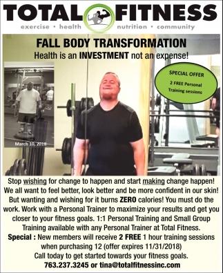 Fall Body Transformation