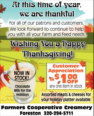 Wishing You a Happy Thanksgiving!