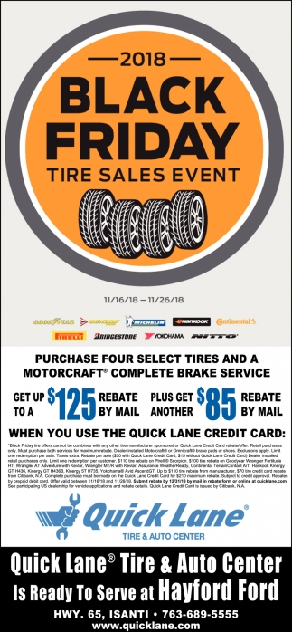 2018 Black Friday Tire Sales Event
