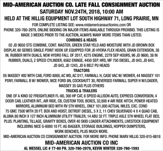 Late Fall Consignment Auction